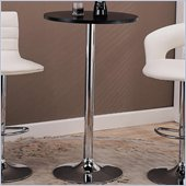Coaster  Furniture Round Pub Table in Black & Chrome