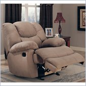 Coaster Palo Padded Microfiber Rocker Recliner in Mocha