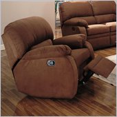 Coaster Paulina Microfiber Rocker Recliner Chair in Chocolate