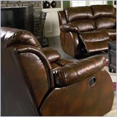 Coaster Morrell Casual Leather Rocker Recliner Chair in Dark Brown