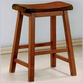 Coaster 24 Inch Wooden Bar Stool in Oak
