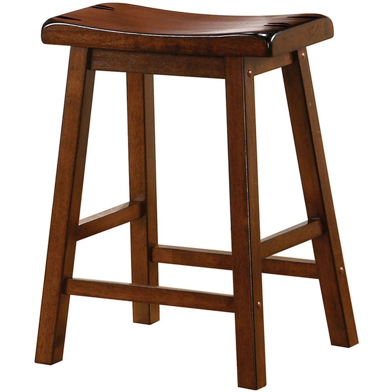 24 Quot Wooden Counter Stool In Walnut 180069