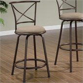 Coaster 24 Inch Metal Bar Stool in Brown