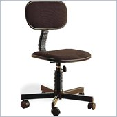 Coaster Office Chairs Casual Fabric Office Task Chair in Black