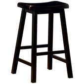 Coaster 29 Inch Wooden Bar Stool in Black
