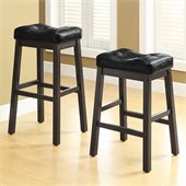 Coaster Sofie 24 Upholstered Seat Bar Stool in Black