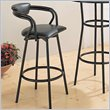 ADD TO YOUR SET: Coaster Dixie Upholstered Bar Stool in Black