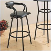 Coaster Dixie Upholstered Bar Stool in Black