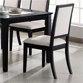 Coaster Lexton Upholstered Dining Side Chair in Black/Creme