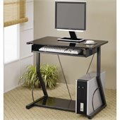 Coaster Desks Contemporary Computer Desk with Keyboard Tray in Black