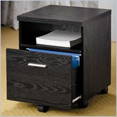 Coaster Peel Mobile File Cabinet with Shelf and Drawer in Black