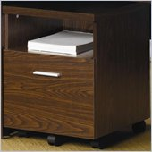 Coaster Peel Mobile File Cabinet with Shelf and Drawer in Brown