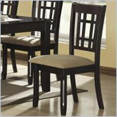 Coaster Baldwin Upholstered Dining Side Chair in Cappuccino