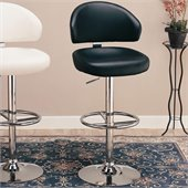 Coaster 29 Inch Adjustable Bar Stool in Black
