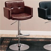 Coaster 29 Inch Brown Adjustable Bar Chair