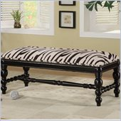 Coaster Benches Upholstered Zebra Print Bench