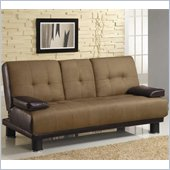 Coaster Sofa Beds Two Tone Convertible Sofa Bed w/ Drop Down Console