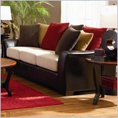 Coaster Lily Contemporary Sofa w/ Loose Pillow Back in Assorted Colors