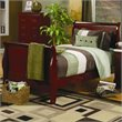 ADD TO YOUR SET: Coaster Saint Laurent Sleigh Bed in Cherry Finish