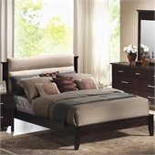 Coaster Kendra Upholstered Platform Bed in Mahogany Finish