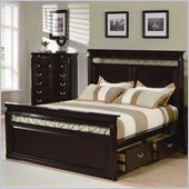 Coaster Manhattan Open Panel Bed in Dark Espresso Finish