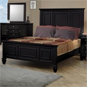 Coaster Sandy Beach Classic Panel Bed in Black Finish