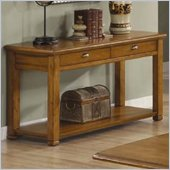 Coaster Woodside Sofa Table with Drawers and Shelf in Light Brown