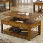 Coaster Woodside Lift Top Cocktail Table with Shelf in Light Brown