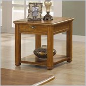 Coaster Woodside End Table in Light Brown Finish