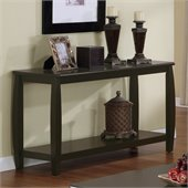 Coaster Marina Sofa Table with 1 Shelf in Cappuccino Finish