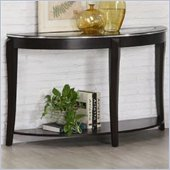 Coaster Wacker Sofa Table with Inset Glass Top in Dark Cappuccino