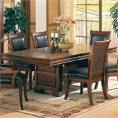 Coaster Westminster Double Pedestal Dining Table in Cherry Finish