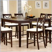 Coaster Pryor Counter Height Dining Table with Butterfly Leaf in Cappuccino