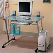 Coaster Desks Computer Desk with Computer Storage and Casters