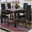 ADD TO YOUR SET: Coaster Morningside Rectangle Cappuccino Dining Table with Glass Inset