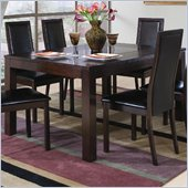 Coaster Morningside Rectangle Cappuccino Dining Table with Glass Inset