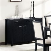 Coaster Lexton Buffet Server with Drawer and Door Storage in Black Finish