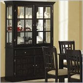 Coaster Baldwin Buffet & Hutch with 2 Glass Doors Deep Cappuccino
