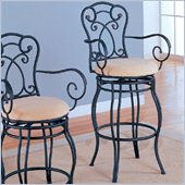 Coaster 29 Inch Metal Bar Stool in Black