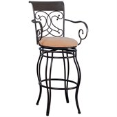 Coaster 29 Inch Metal Bar Stool in Brown
