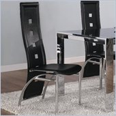 Coaster Broward Dining Side Chair with Bonded Leather Seats