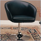 Coaster Dining Chair in Black Faux Leather