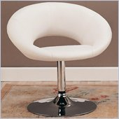 Coaster Dining Chair in White Faux Leather