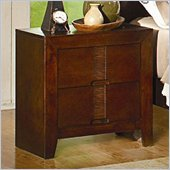 Coaster Resin 2 Drawer Nightstand in Warm Medium Brown Finish