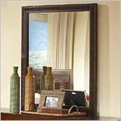 Coaster Resin Vertical Landscape Mirror in Warm Medium Brown Finish