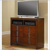 Coaster Resin Media Storage Chest in Warm Medium Brown Finish