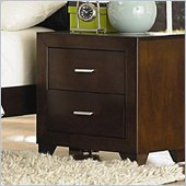 Coaster Tiffany 2 Drawer Nightstand in Deep Brown Finish