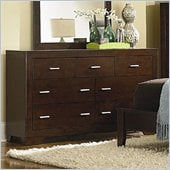 Coaster Tiffany 7 Drawer Dresser in Deep Brown Finish
