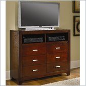 Coaster Tiffany Tiffany Media Storage Chest in Deep Brown Finish