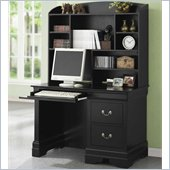 Coaster Saint Laurent Single Pedestal Computer Desk with Hutch